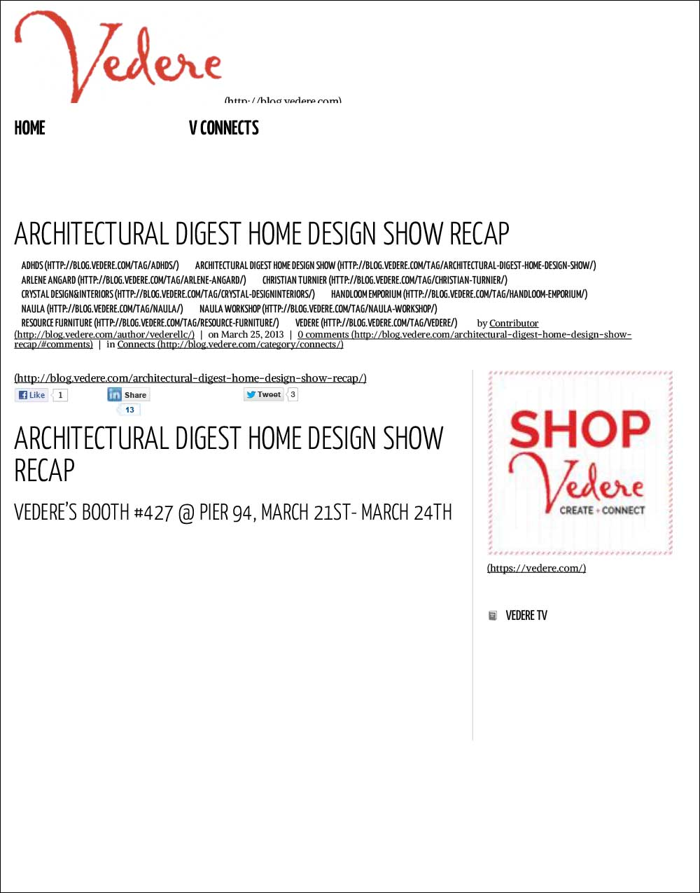 Architectural Digest Home Design Show Recap - Vedere Blog