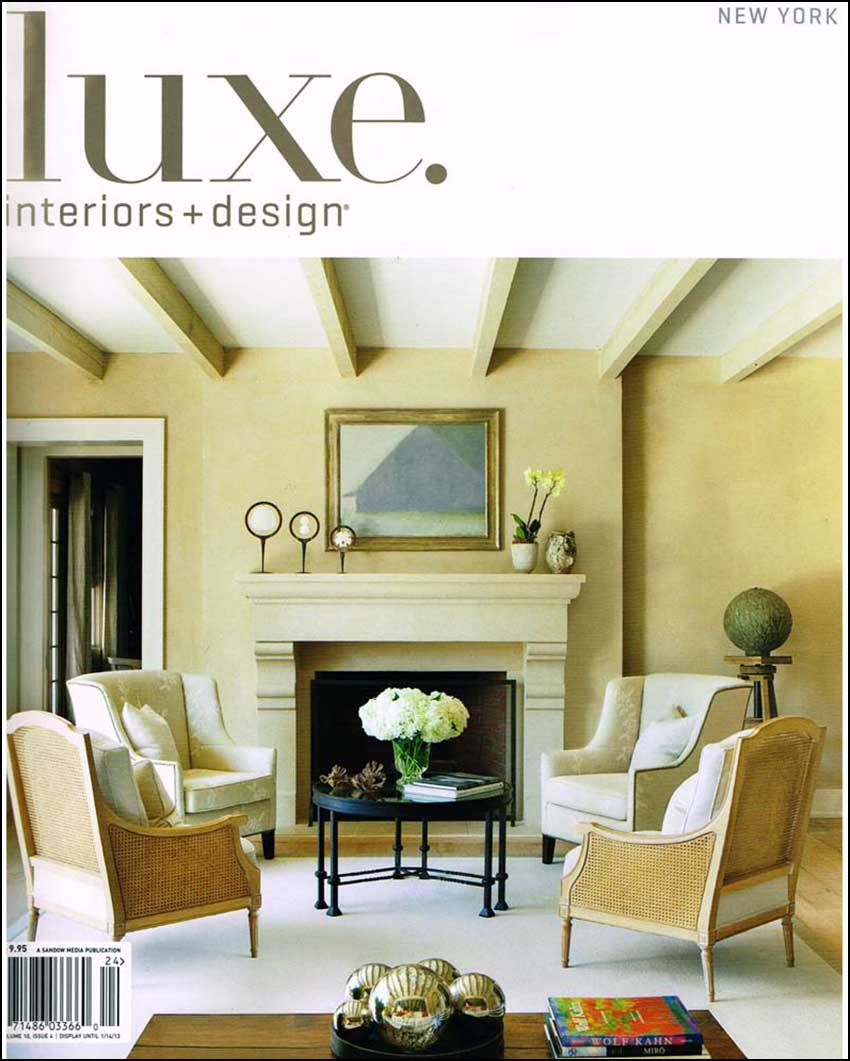 Arlene angard designs luxe interior design for Interior design online magazine