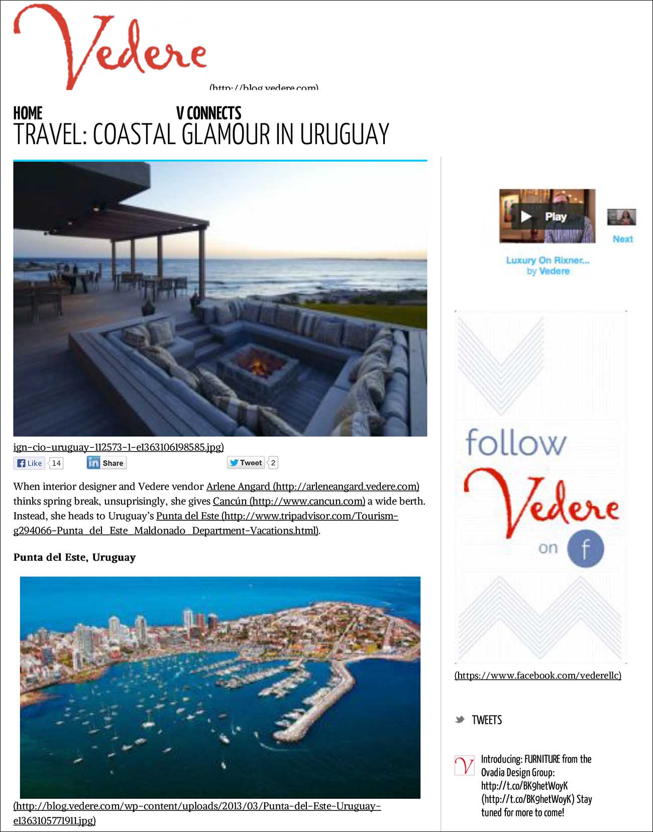 TraVel: Coastal Glamour in Uruguay - Vedere Blog