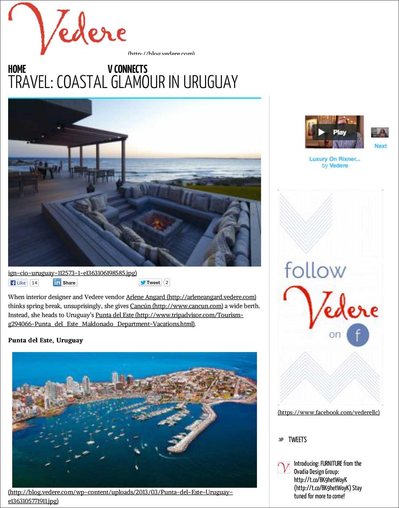 TraVel: Coastal Glamour in Uruguay - Vedere Blog