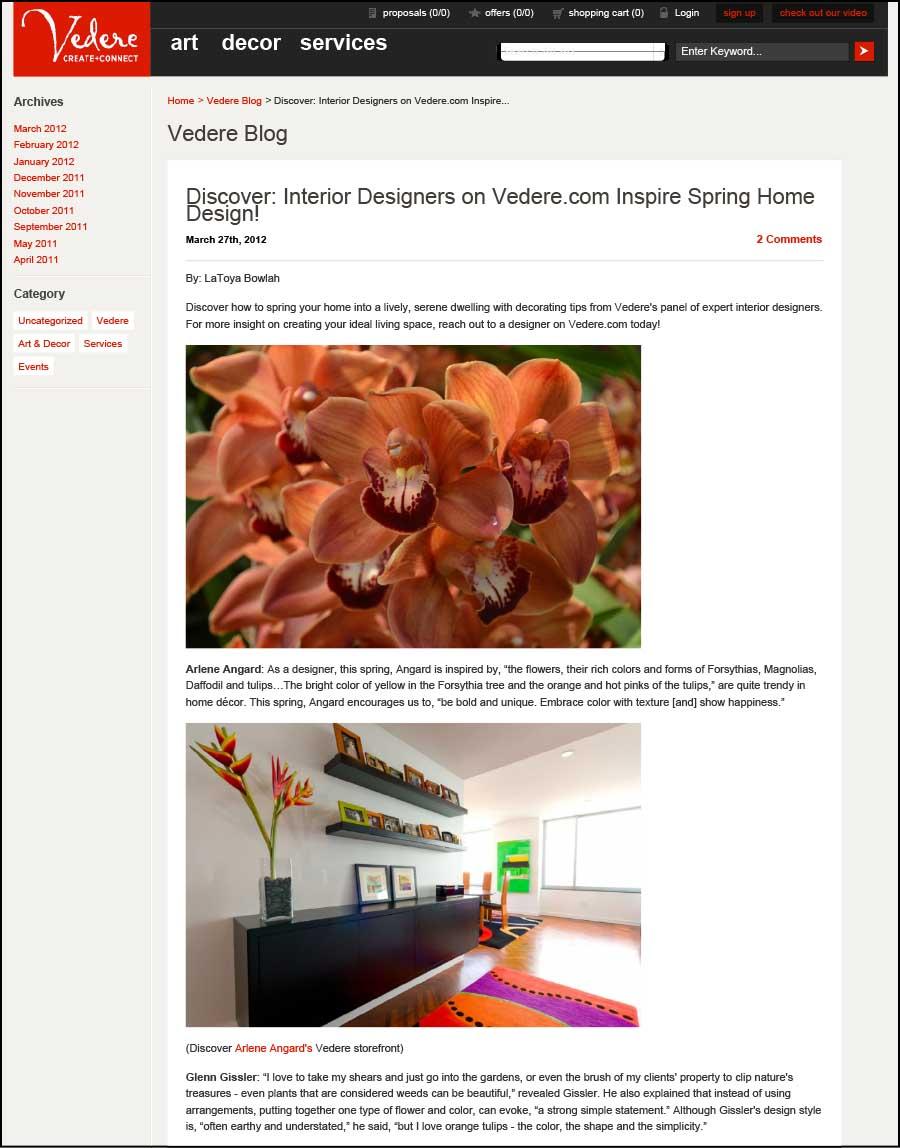 Vedere - Discover: Interior Designers on Vedere.com Inspire Spri