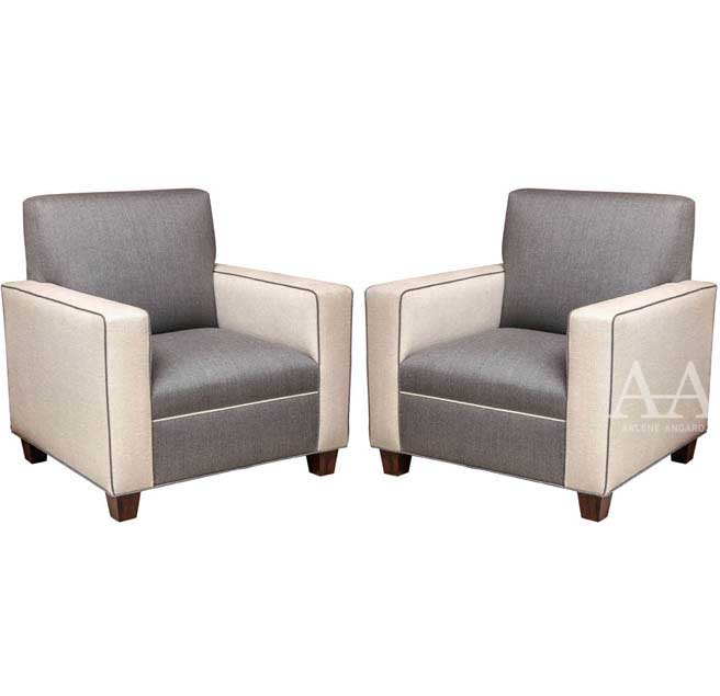 Pair of Mid-Century Modern Chairs by Arlene Angard